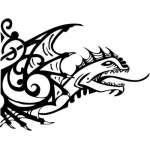Tribal Dragon Sticker 105