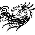 Tribal Dragon Sticker 127