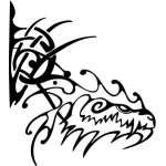 Tribal Dragon Sticker 157