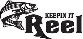 Keepin it Reel Striper Fishing Sticker