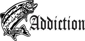 Addiction Salmon Fishing Sticker 2