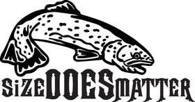 Size Does Matter Salmon Fishing Sticker