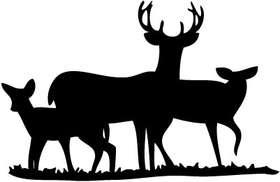 Deer Family Sticker