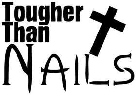 Tougher Than Nails Sticker