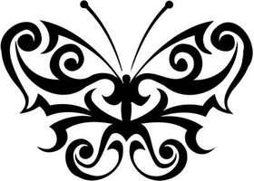 Tribal Butterfly Sticker 109