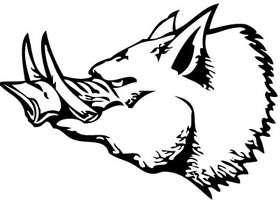 Wild Boar Head Sticker