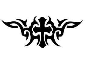 Cross Tribal Sticker