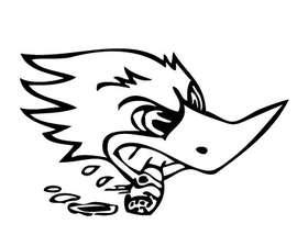 Racing Cigar Duck Sticker