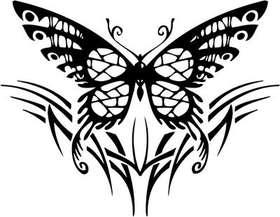 Tribal Butterfly Sticker 176
