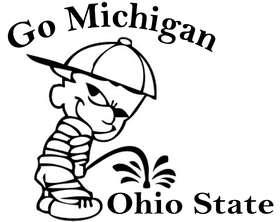 Michigan Pee On Ohio State Sticker