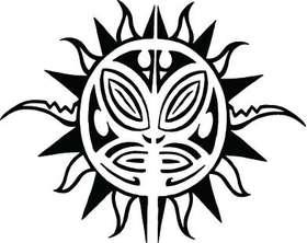 Sun Sticker 286