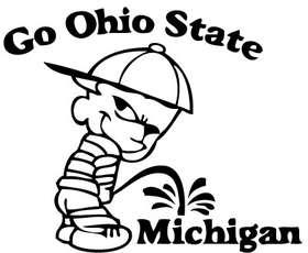 Ohio State Pee On Michigan Sticker