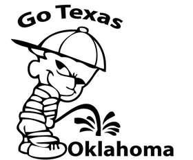 Texas Pee On Oklahoma Sticker