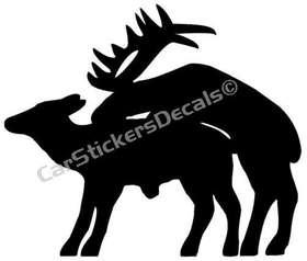 Elk Mating Sticker