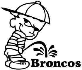 Pee On Broncos Sticker