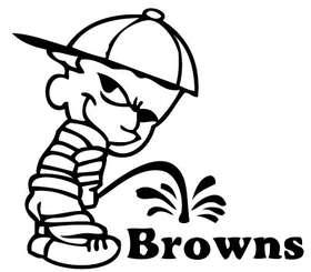 Pee On Browns Sticker