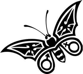Butterfly 5 Sticker