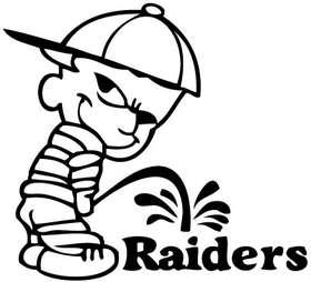 Pee On Raiders Sticker