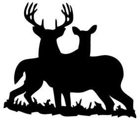 Deer Couple 2 Sticker