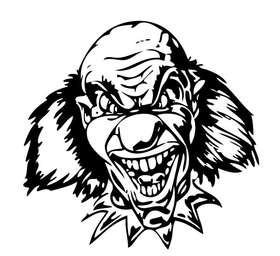 Clown 15 Sticker
