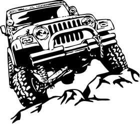 Jeep Rock Crawling Sticker