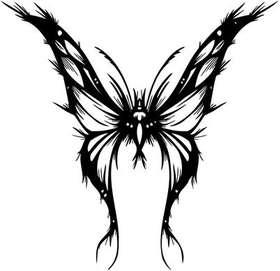 Tribal Butterfly Sticker 235