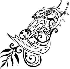 Tribal Dragon Sticker 171
