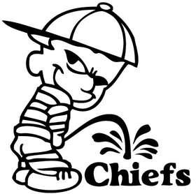 Pee On Chiefs Sticker