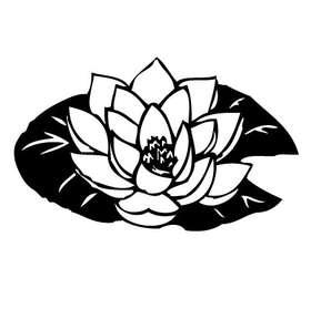 Lotus Blossom Sticker