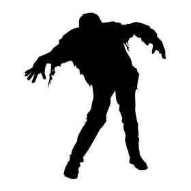 Zombie Man Sticker