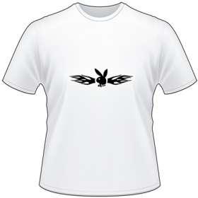 Flaming Playboy Bunny T-Shirt