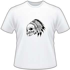 Native American Skull with Headdress T-Shirt