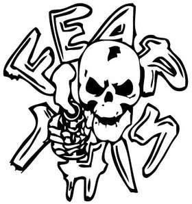 Fear This Skull Sticker