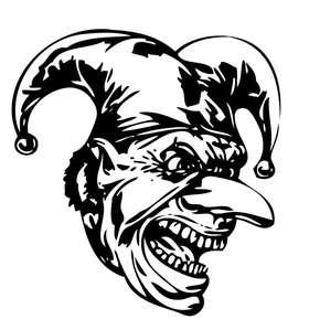 Clown 13 Sticker