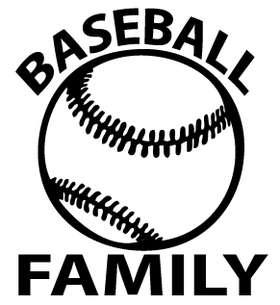 Baseball Family Sticker
