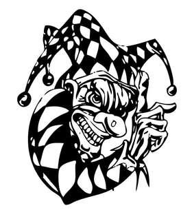Clown 10 Sticker