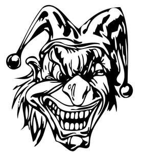 Clown 18 Sticker