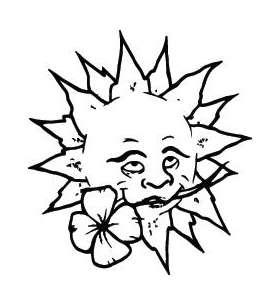 Sun Sticker 222