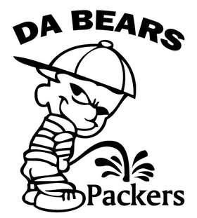 Da Bears Peeing on Packers Sticker