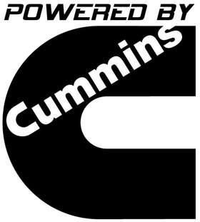 Powered By Cummins Sticker