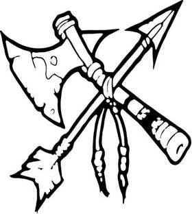Native American Tomahawk Sticker 10