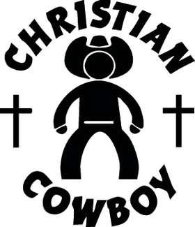Christian Cowboy Sticker 3209