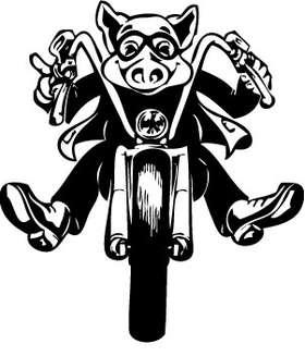 Motorcycle Hog Sticker