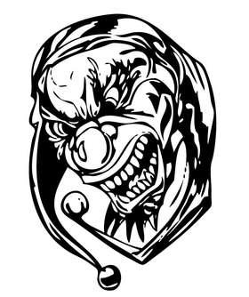 Clown 16 Sticker