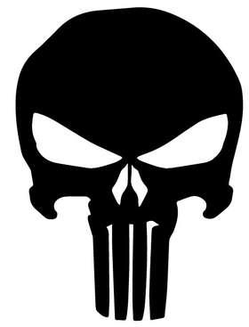 Punisher Skull Sticker