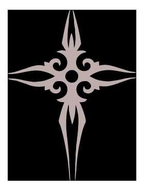 Fancy Cross Sticker 4173