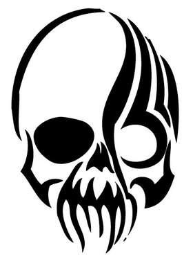 Tribal Skull Sticker