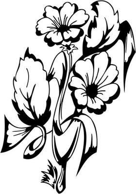 Tribal Flower Sticker 143
