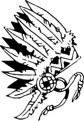 Native American Headdress Sticker 2