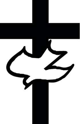 Dove and Cross Sticker 3158